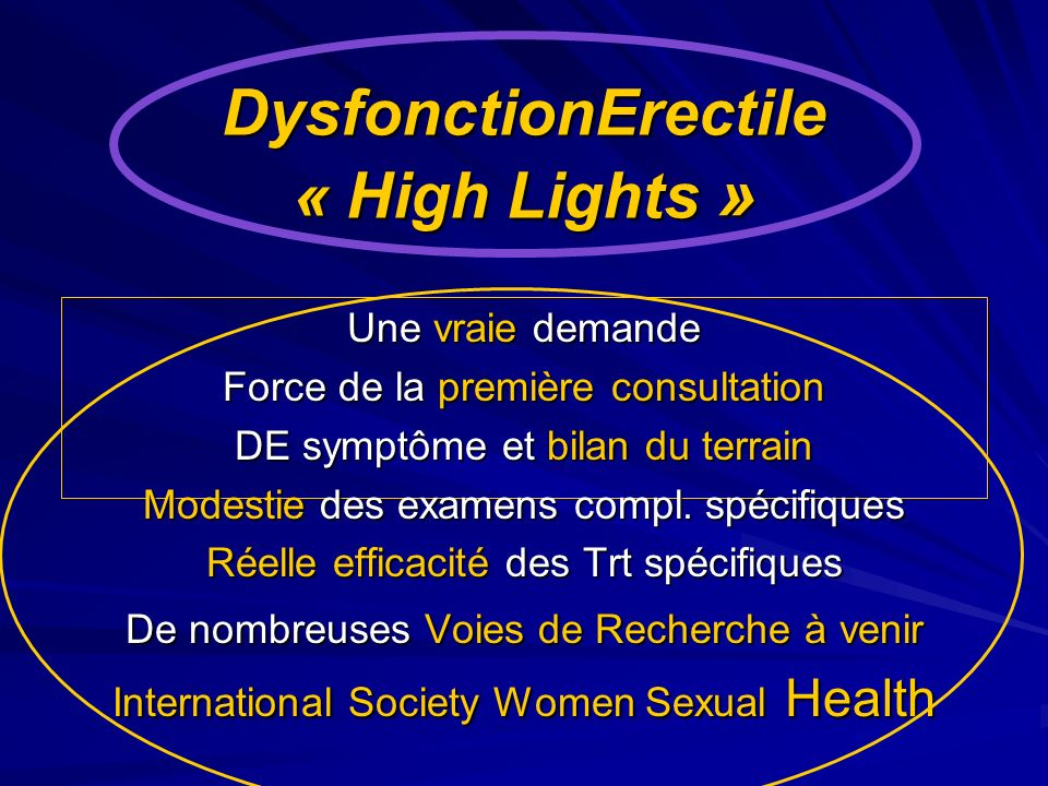 DysfonctionErectile « High Lights »