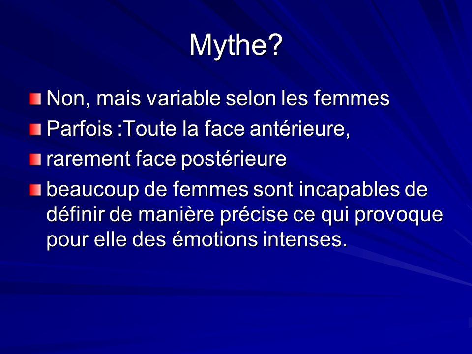 Mythe Non, mais variable selon les femmes