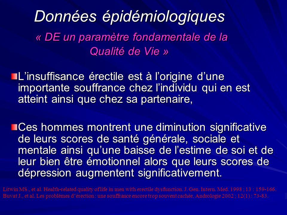 Données épidémiologiques « DE un paramètre fondamentale de la Qualité de Vie »