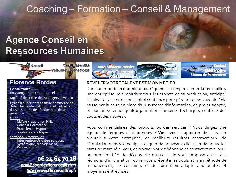 Coaching – Formation – Conseil & Management