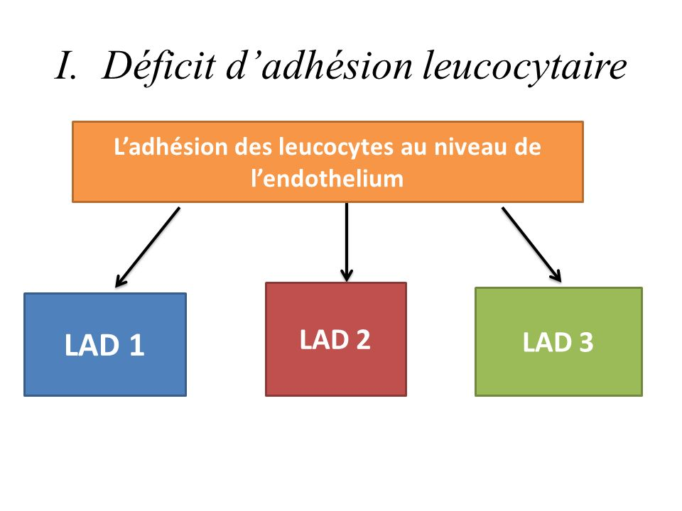 Déficit d'adhésion leucocytaire