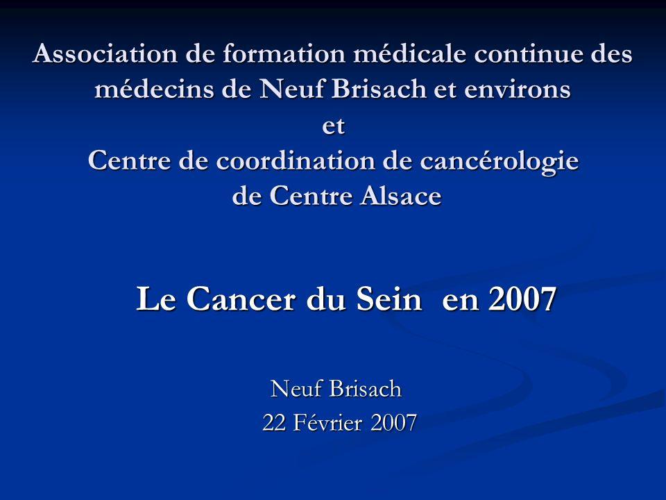 Association de formation médicale continue des médecins de Neuf Brisach et environs et Centre de coordination de cancérologie de Centre Alsace