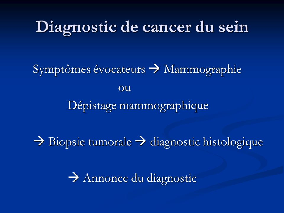 Diagnostic de cancer du sein