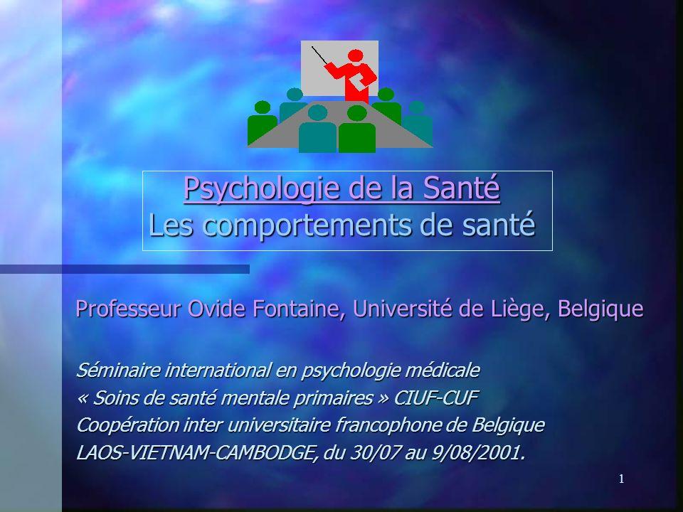 Psychologie de la Santé Les comportements de santé