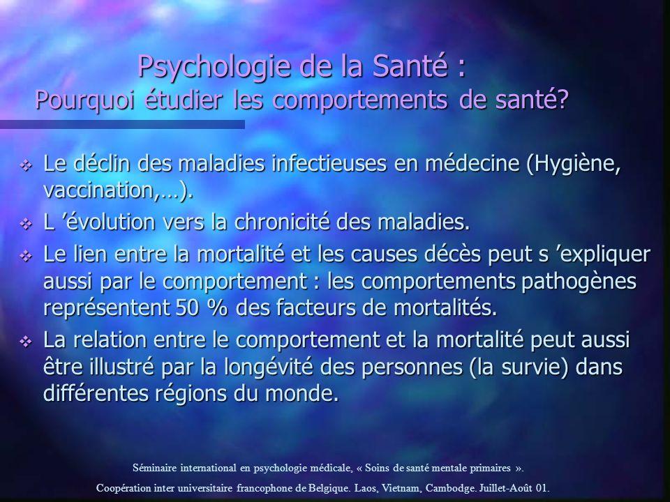 Psychologie de la Santé : Pourquoi étudier les comportements de santé