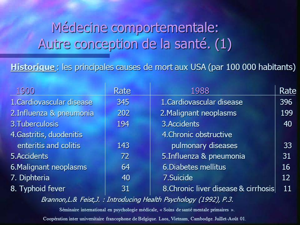 Médecine comportementale: Autre conception de la santé. (1)