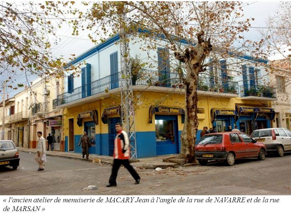 « l ancien atelier de menuiserie de MACARY Jean à l angle de la rue de NAVARRE et de la rue de MARSAN »