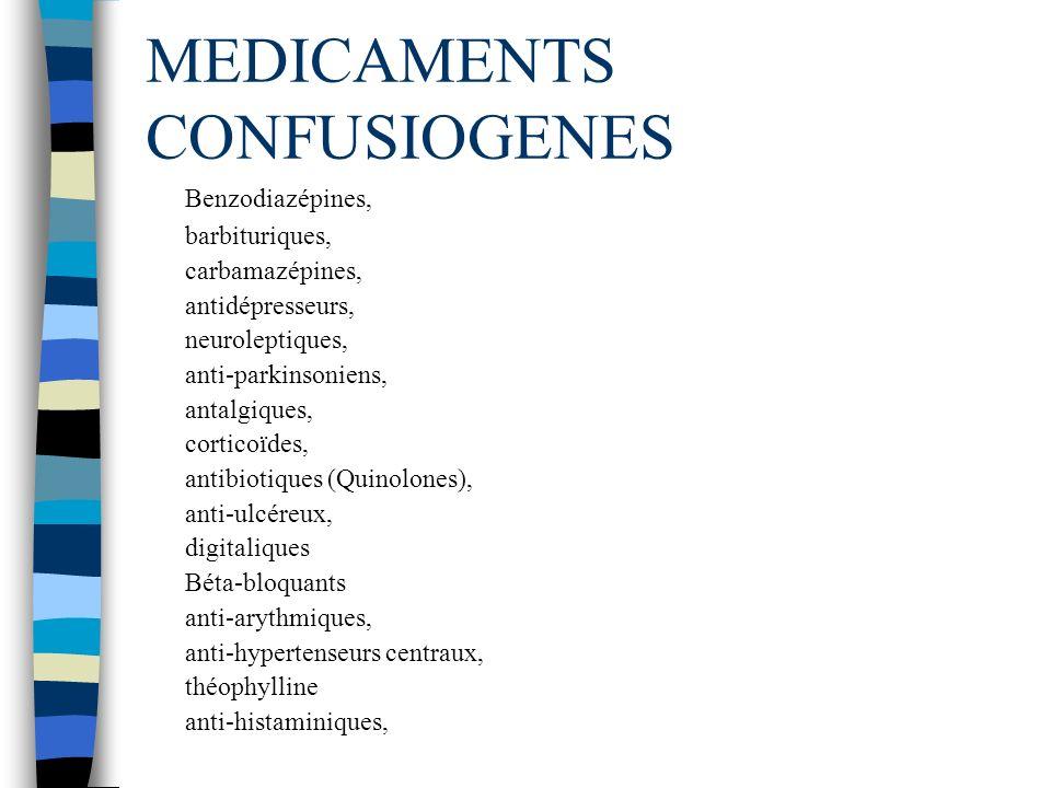 MEDICAMENTS CONFUSIOGENES