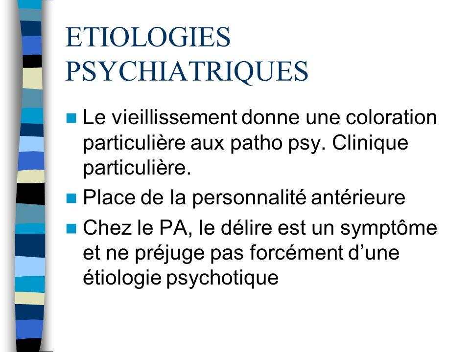 ETIOLOGIES PSYCHIATRIQUES