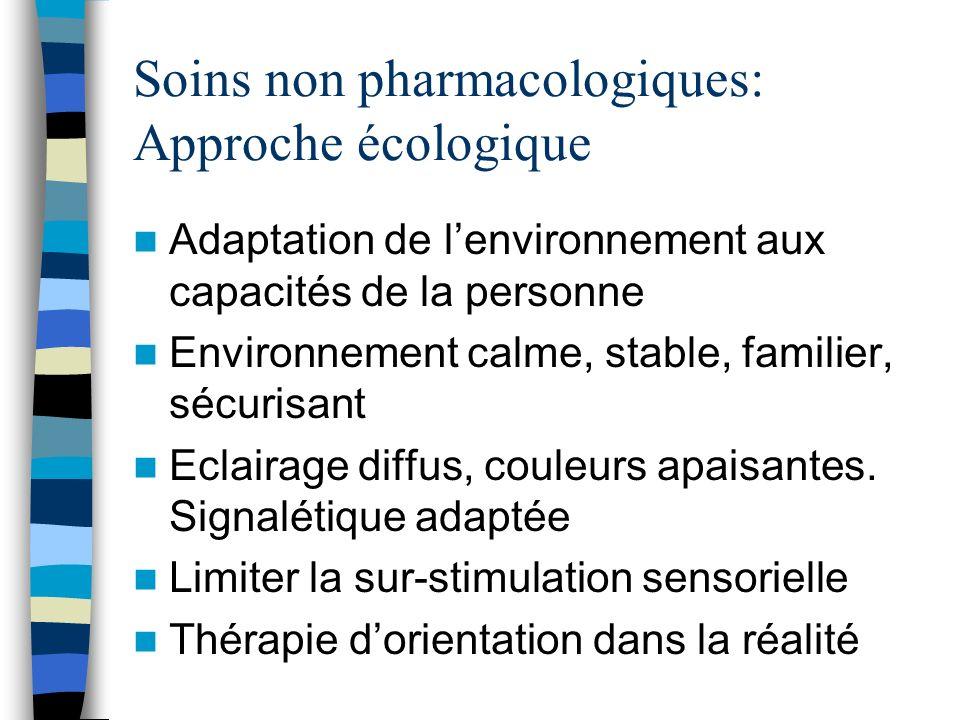 Soins non pharmacologiques: Approche écologique