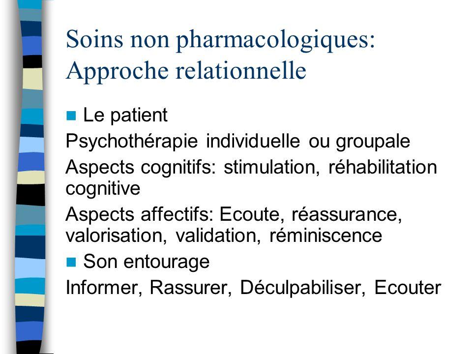 Soins non pharmacologiques: Approche relationnelle