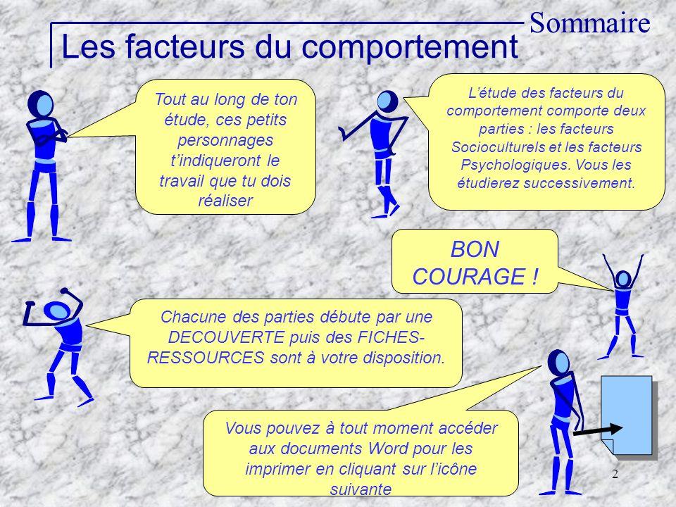 Les facteurs du comportement