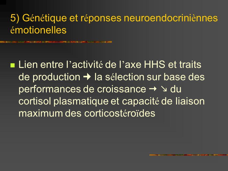 5) Génétique et réponses neuroendocriniènnes émotionelles