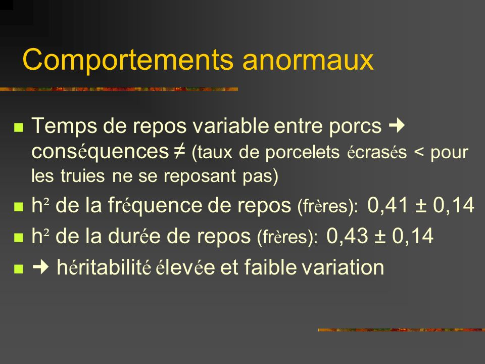 Comportements anormaux