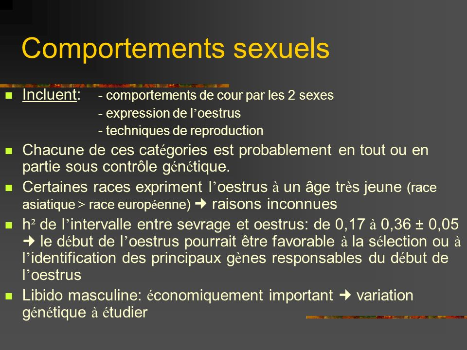 Comportements sexuels