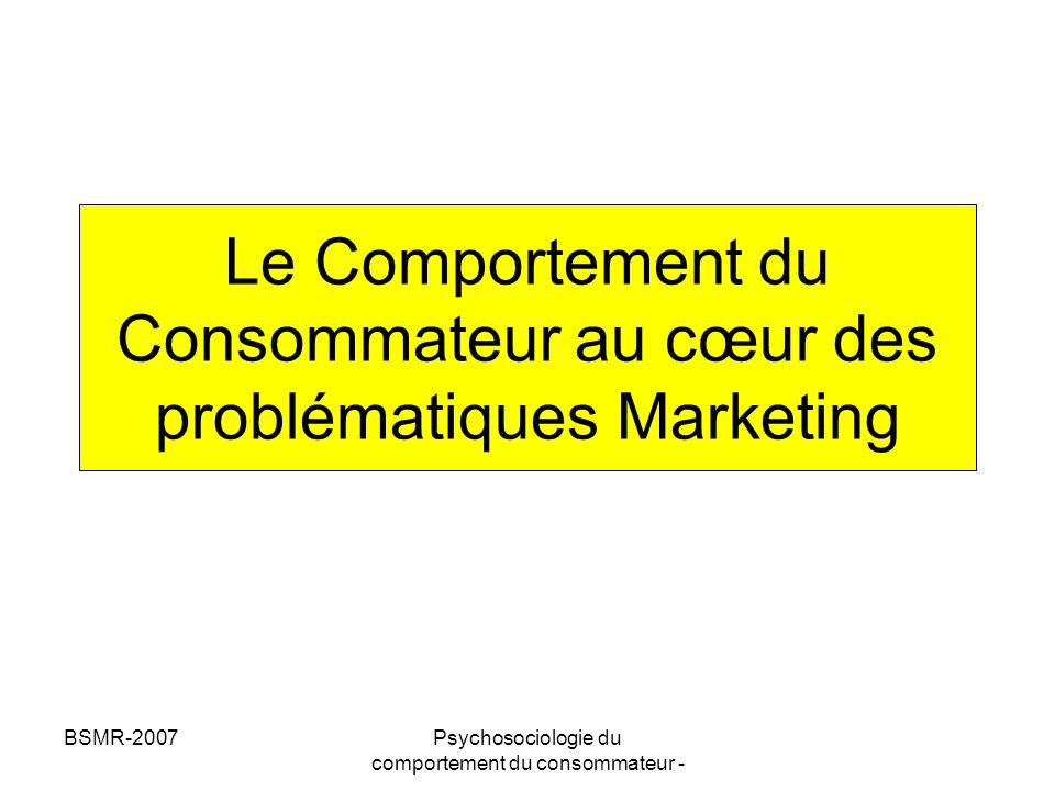 Le Comportement du Consommateur au cœur des problématiques Marketing