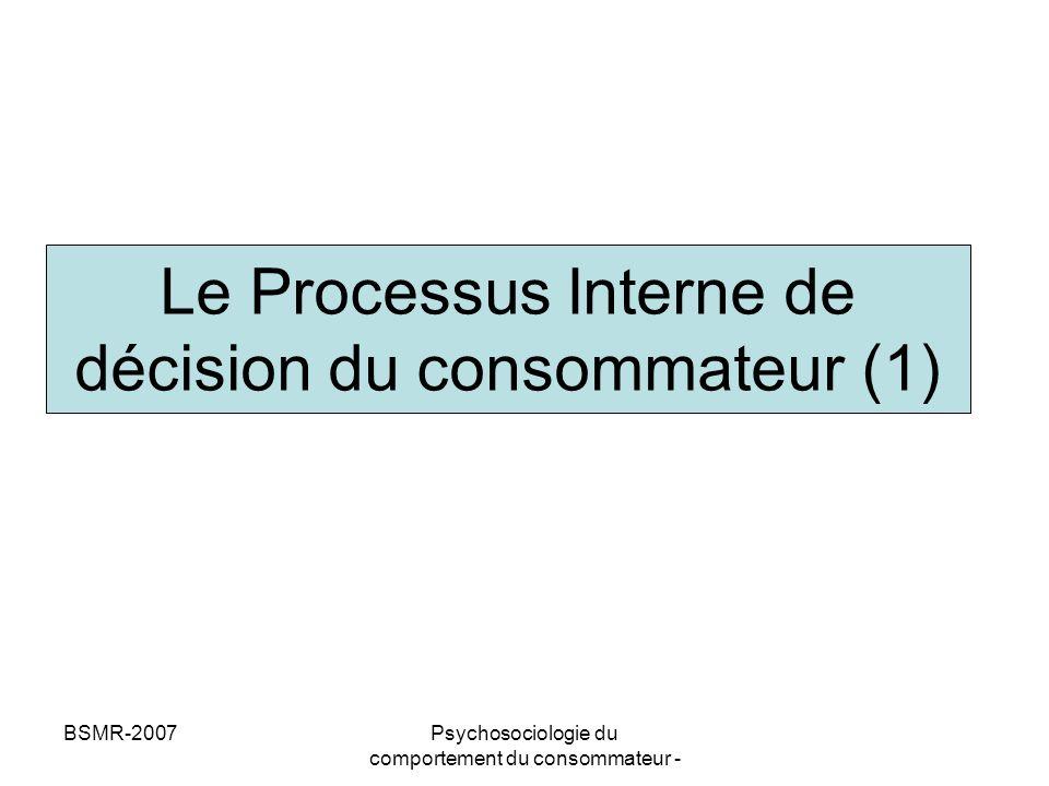 Le Processus Interne de décision du consommateur (1)