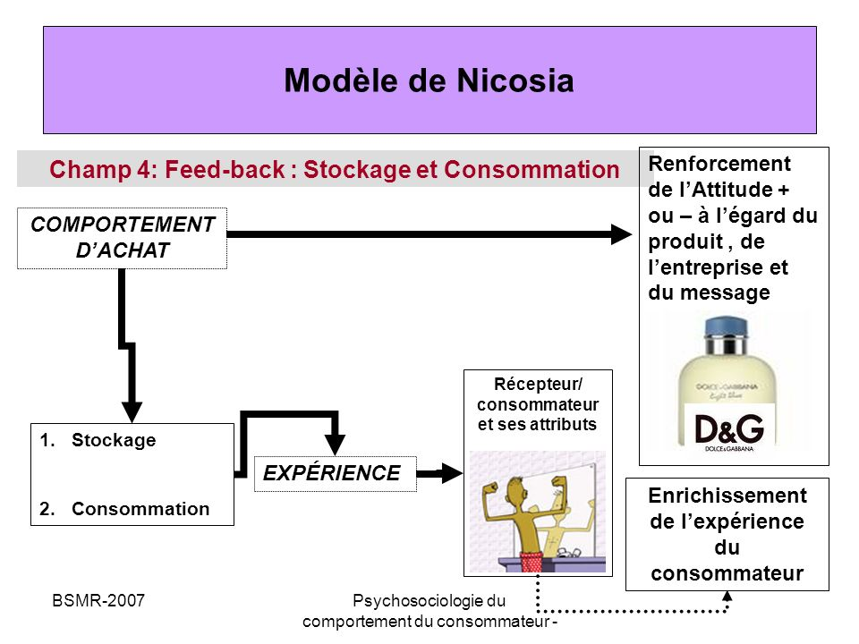 Modèle de Nicosia Champ 4: Feed-back : Stockage et Consommation