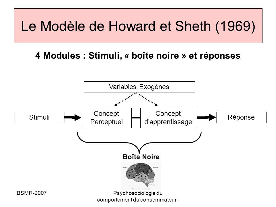 Le Modèle de Howard et Sheth (1969)