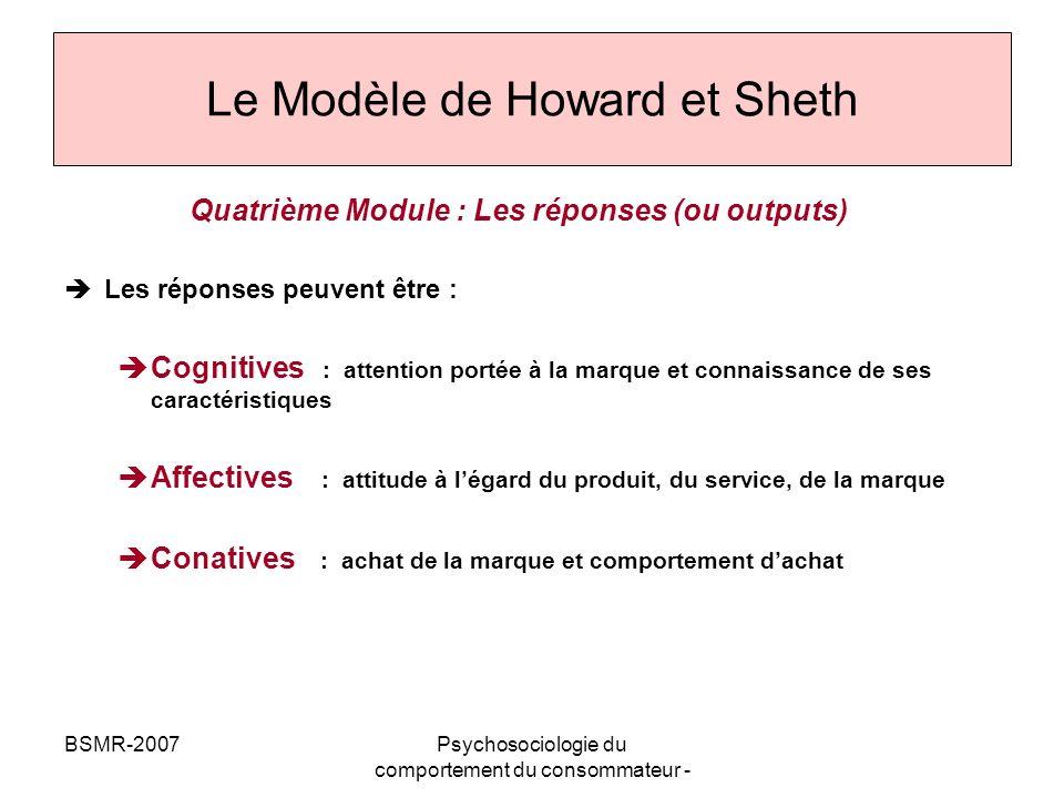 Le Modèle de Howard et Sheth