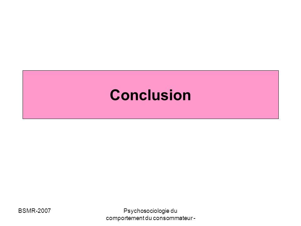 Psychosociologie du comportement du consommateur -