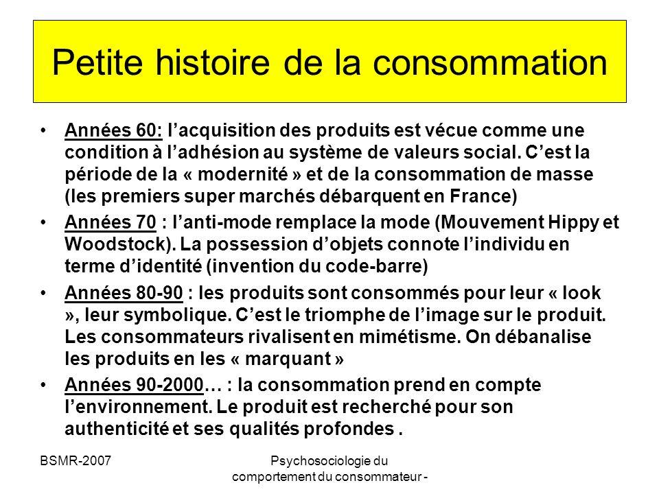 Petite histoire de la consommation