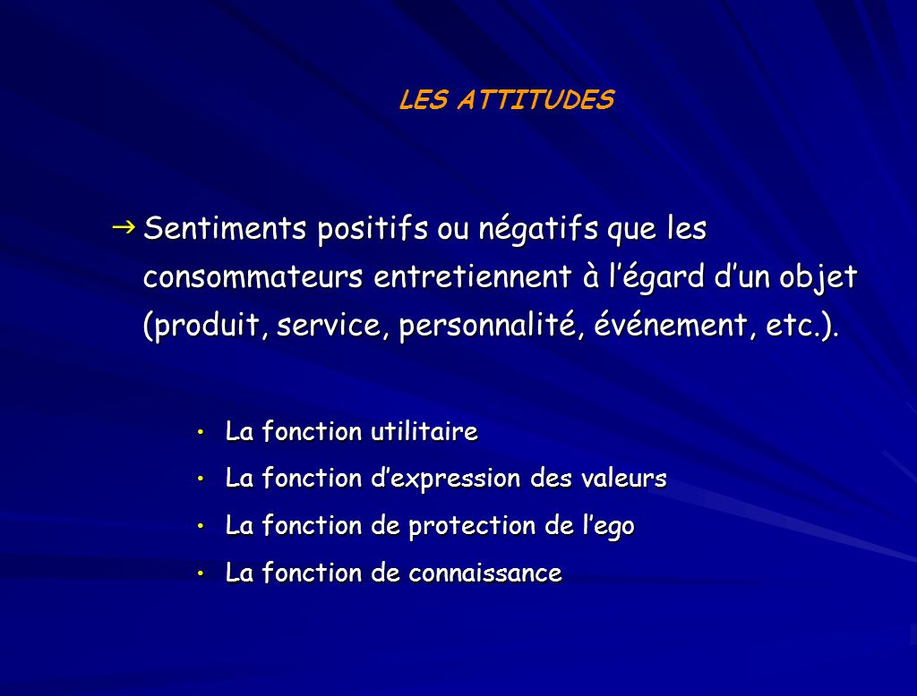 LES ATTITUDES
