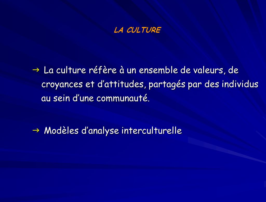Modèles d'analyse interculturelle