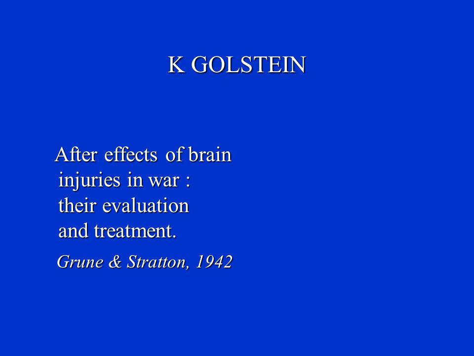 K GOLSTEIN Grune & Stratton, 1942