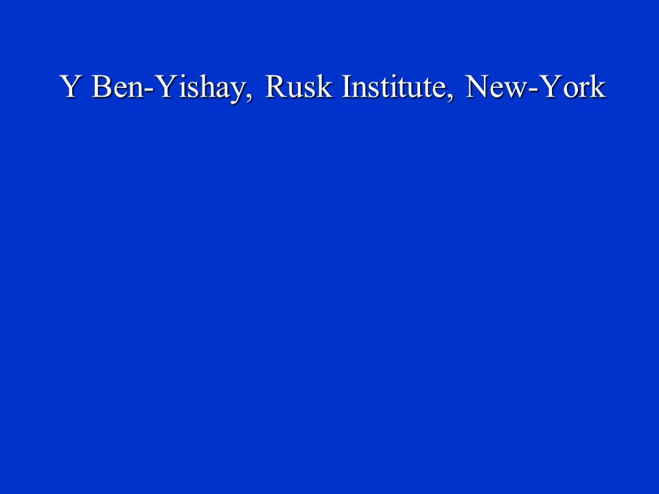 Y Ben-Yishay, Rusk Institute, New-York