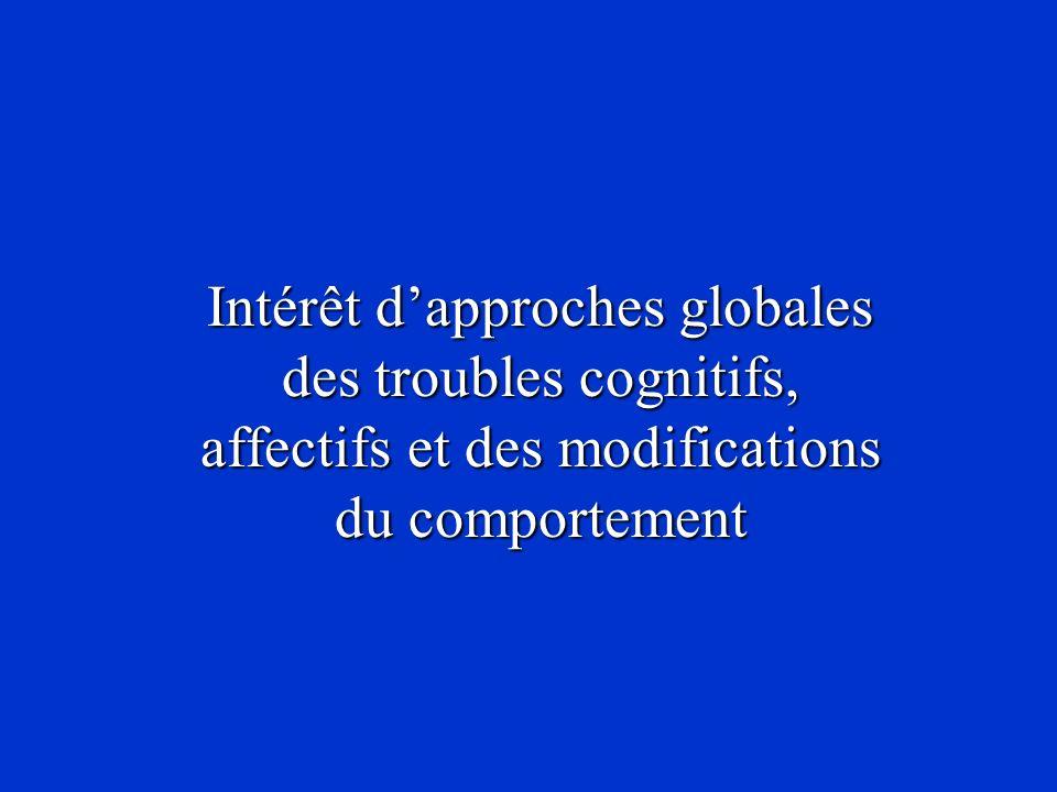 Intérêt d'approches globales des troubles cognitifs, affectifs et des modifications du comportement