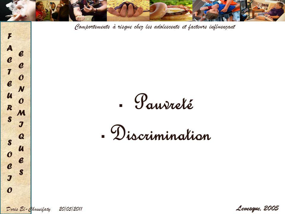 Pauvreté Discrimination