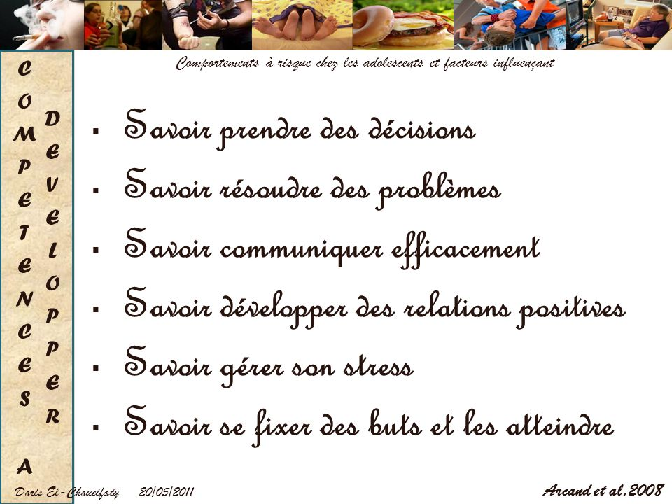 COMPETENCES A DEVELOPPER