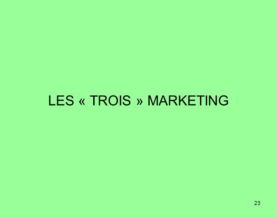 LES « TROIS » MARKETING