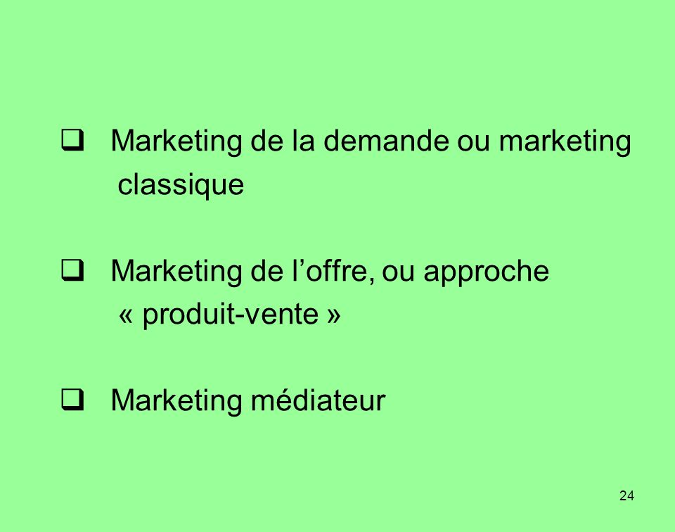 Marketing de la demande ou marketing