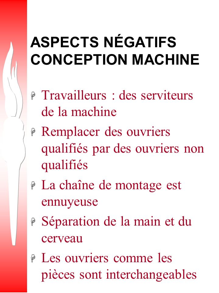 ASPECTS NÉGATIFS CONCEPTION MACHINE
