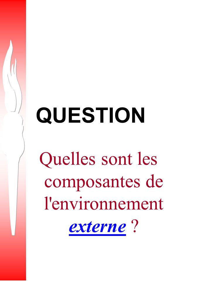 Quelles sont les composantes de l environnement externe