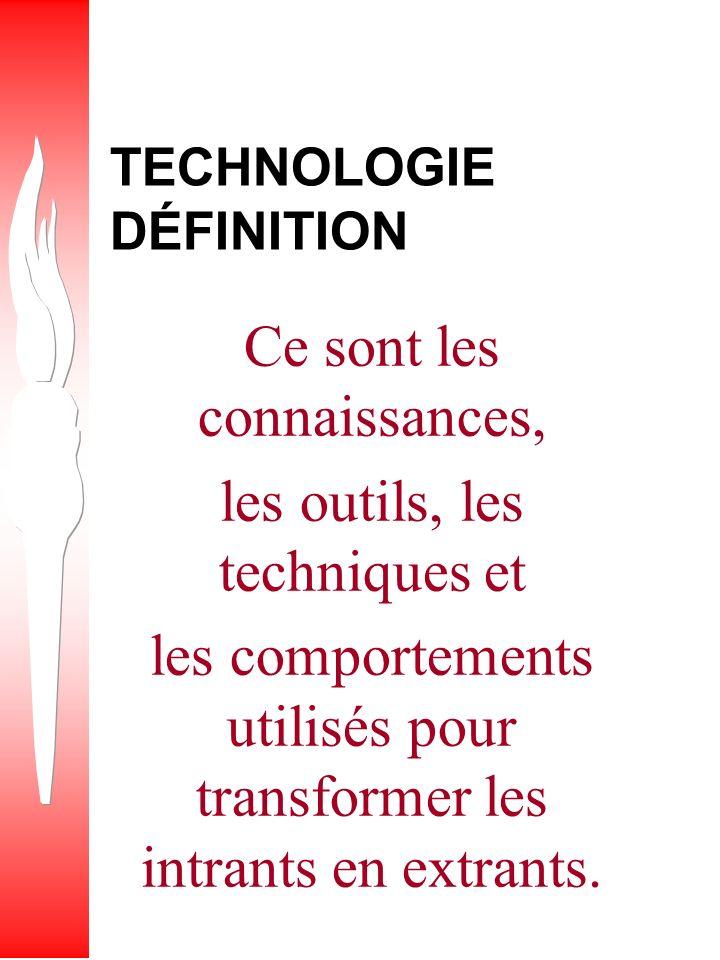 TECHNOLOGIE DÉFINITION