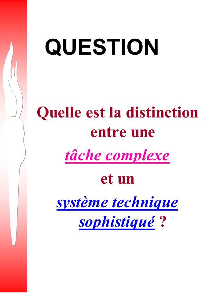Quelle est la distinction entre une système technique sophistiqué