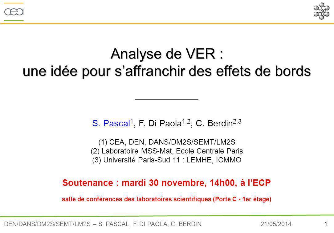 Soutenance : mardi 30 novembre, 14h00, à l'ECP