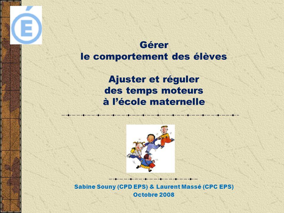Sabine Souny (CPD EPS) & Laurent Massé (CPC EPS) Octobre 2008