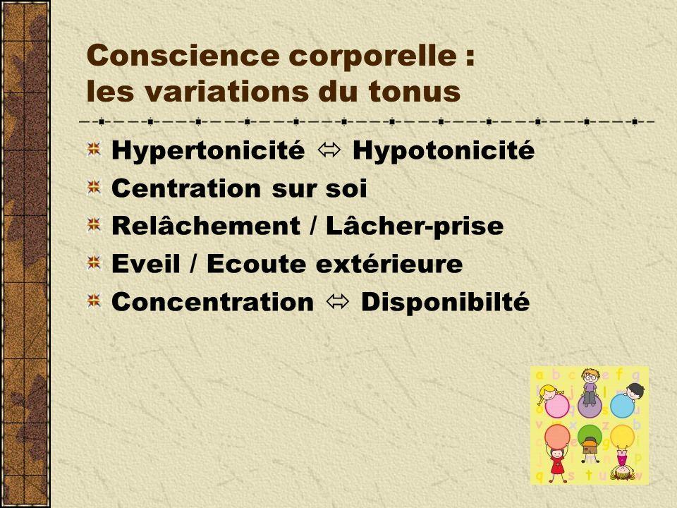 Conscience corporelle : les variations du tonus