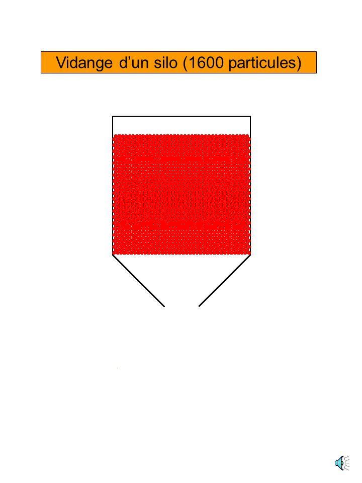 Vidange d'un silo (1600 particules)
