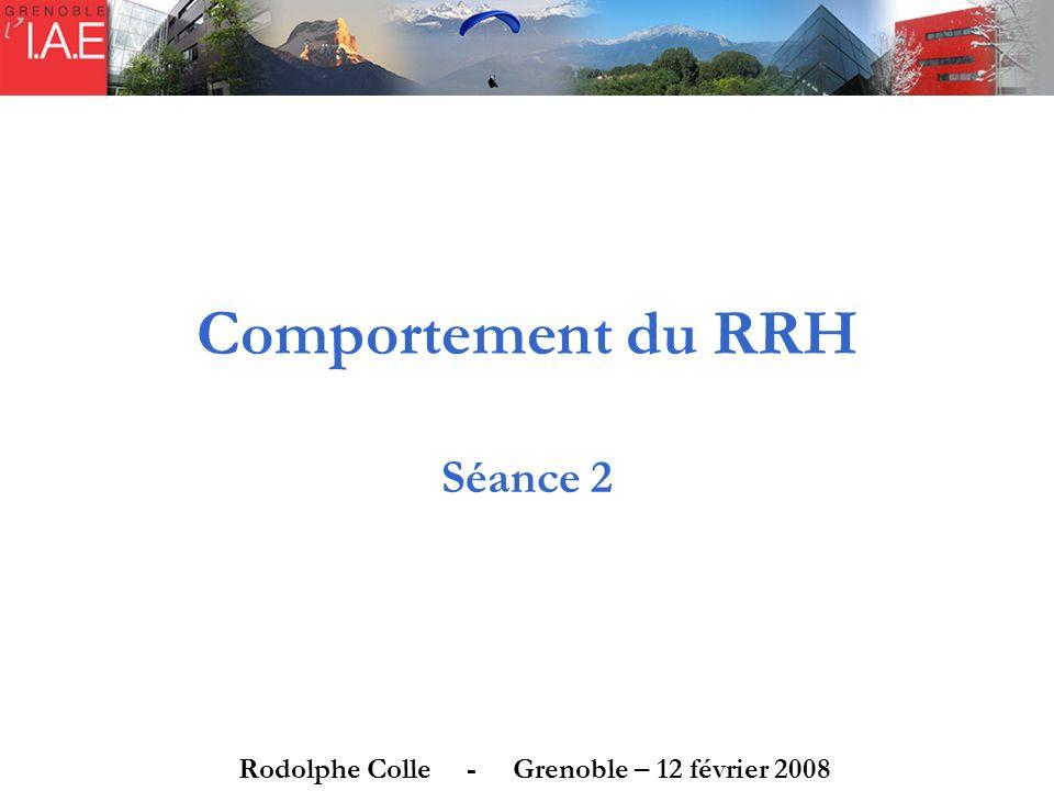 Comportement du RRH Séance 2