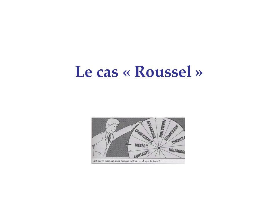 Le cas « Roussel »