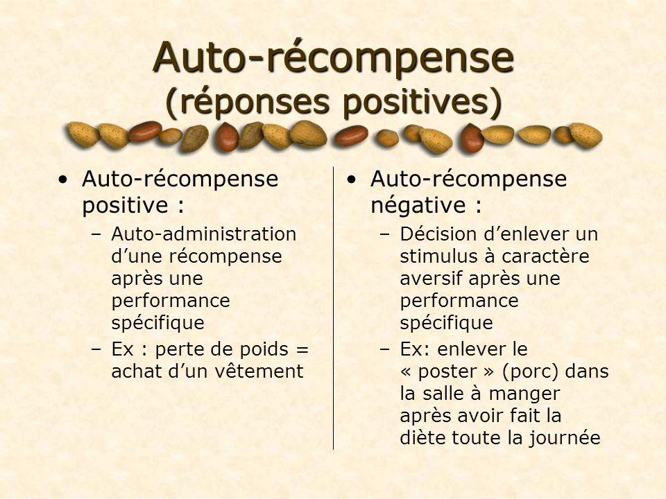 Auto-récompense (réponses positives)