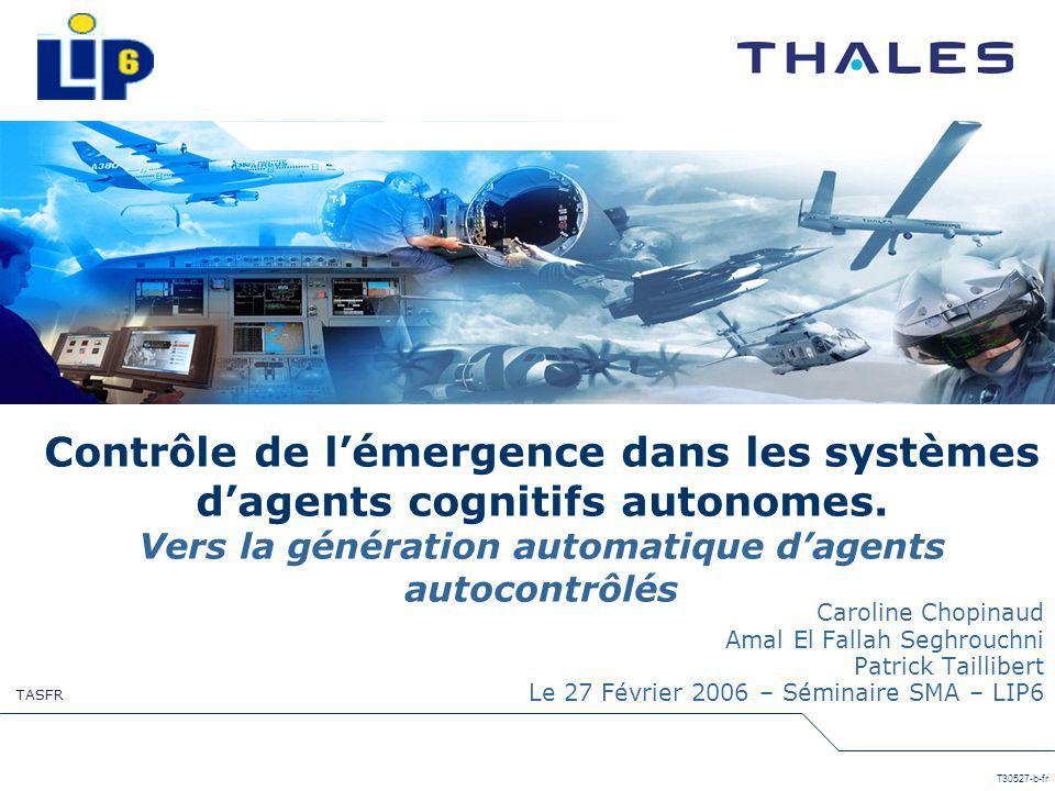 Contrôle de l'émergence dans les systèmes d'agents cognitifs autonomes