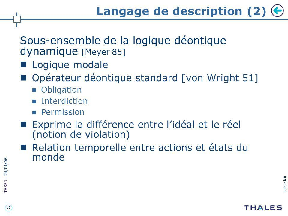 Langage de description (2)