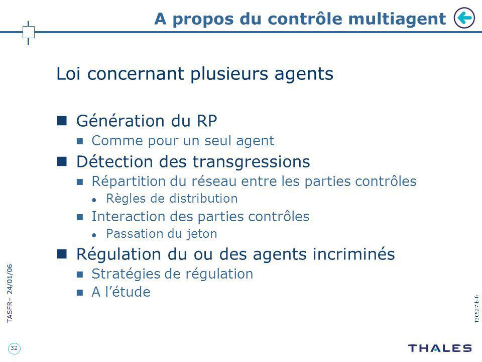 A propos du contrôle multiagent