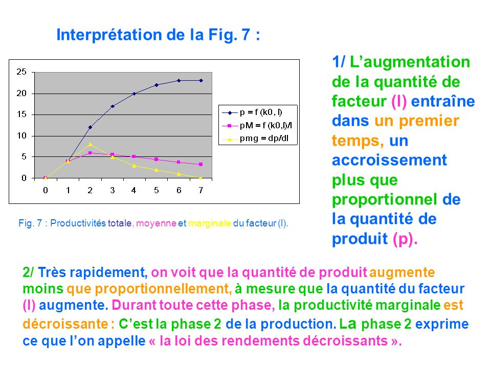 Interprétation de la Fig. 7 :